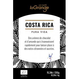 Etiquette silo à café - Costa Rica bio