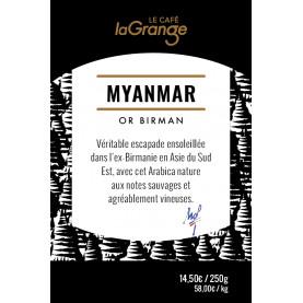 Etiquette silo à café - Myanmar