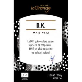 Etiquette silo à café - DK mais vrai Bio