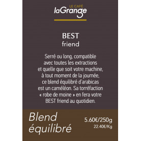 Etiquette silo à café - Best friend