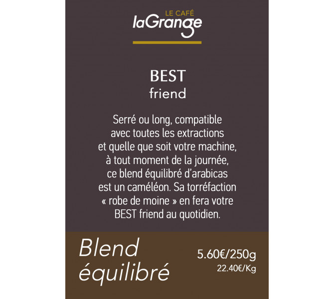 Etiquette silo à café - Best friend