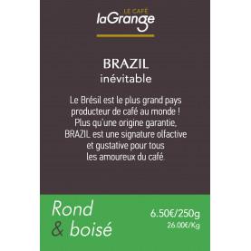 Etiquette silo à café - Brazil inevitable