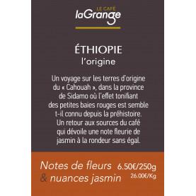 Etiquette silo à café - Ethiopie